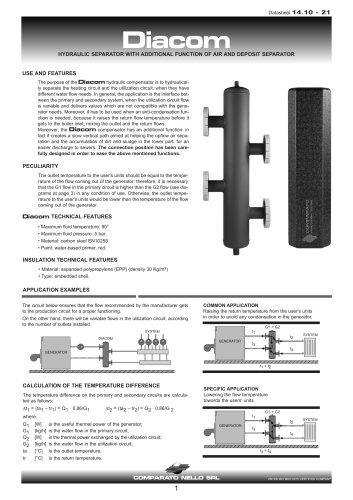 DIACOM hydraulic separators