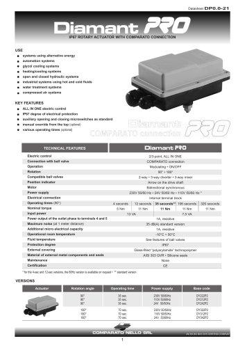 DIAMANT PRO IP67 actuator