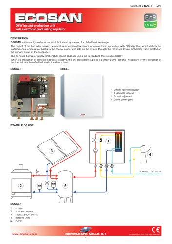 ECOSAN DHW instant production unit