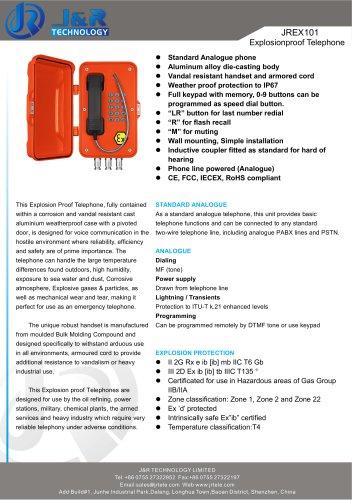 A prueba de explosiones IECEX Mine Telephone JREX-01