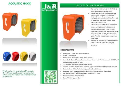 A prueba de sonido cabina telefónica JR-TH-01