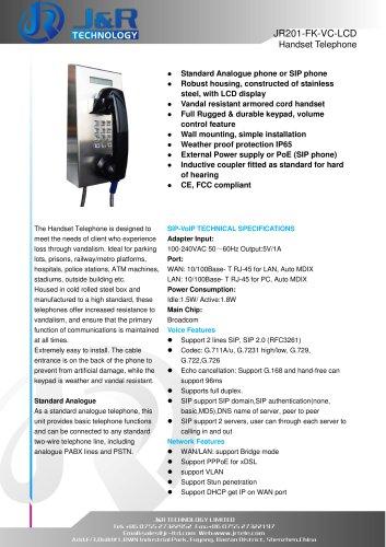 Vandal Resistant Telephone