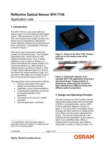 Reflective Optical Sensor SFH 7740