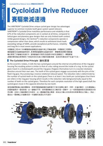 HM Series Foot Mount Cyclo Drive Gear Motor