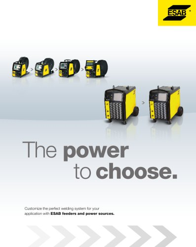 ESAB feeders and power sources