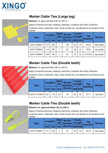 Marker cable tie 2-XINGO