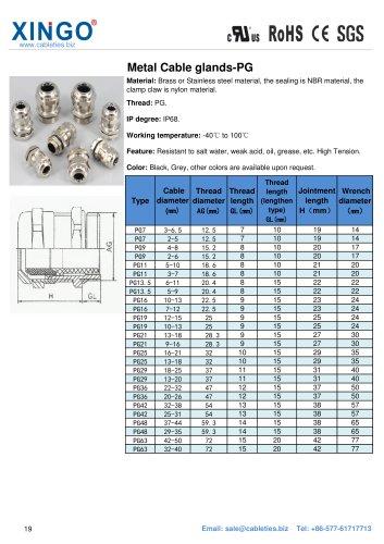 Xingo-Metal Cable glands-PG