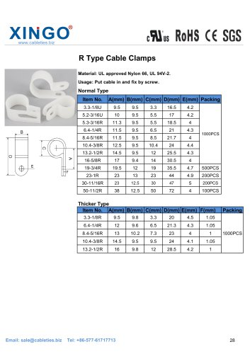 Xingo-R Type Cable Clamps