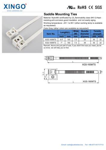 Xingo-Saddle mounting cable ties