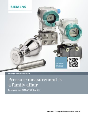 Pressure measurement is a family affair