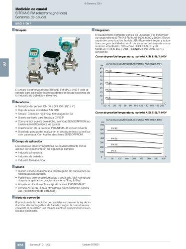 SITRANS FM (electromagnØticos)  Sensores de caudal