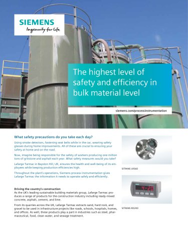 The highest level of safety and efficiency in bulk material level
