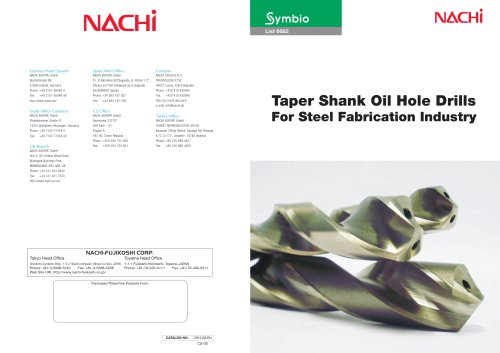 Taper Shank Oil Hole Drills