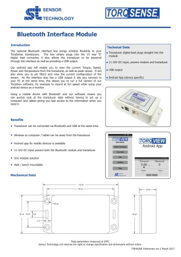 Bluetooth Module for Torque Sensors