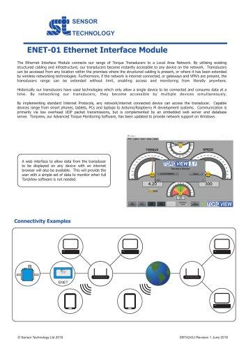 Ethernet Module (ENET-01) for Torque Transducers