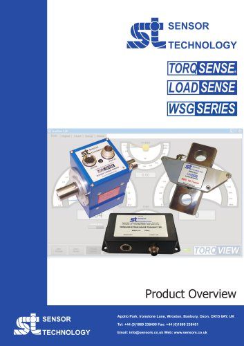 Sensor Technology Product Overview