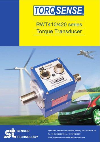 TorqSense RWT410/420 Series Torque Transsducer with Integral Electronics