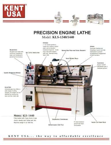 PRECISION ENGINE LATHE Model: KLS-1340/1440