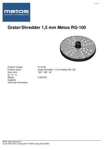 Grater/Shredder 1,5 mm Metos RG-100