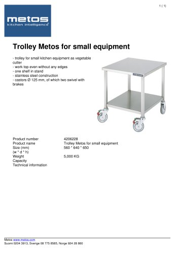 Trolley Metos for small equipment