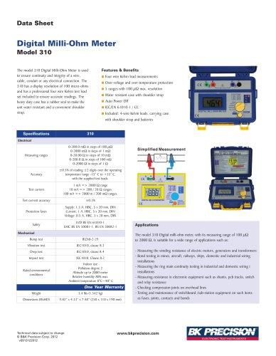 Digital Milli-Ohm Meter