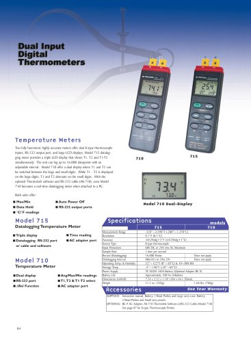 Dual Input Thermometer with Datalogging