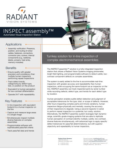INSPECT.assembly Automated Visual Inspection Station