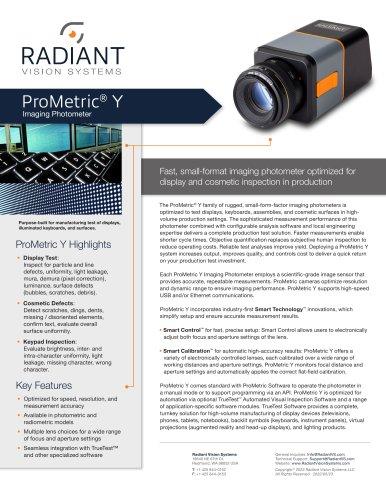 ProMetric Y Imaging Photometers