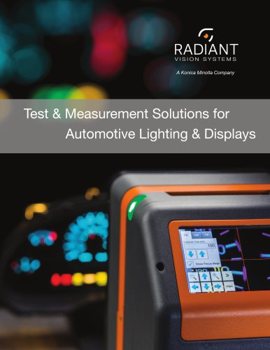 Test and Measurement Solutions for Automotive Lighting and Displays