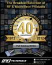 2012A Pasternack Enterprises RF, Microwave and Fiber Optics Catalog 296 Pages.