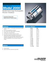 Ocean Submersible/Oceanographic Pressure Transducers Model 2000