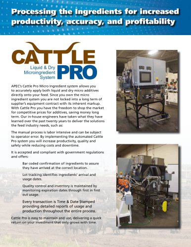 CattlePro Liquid & Dry Microingredient System