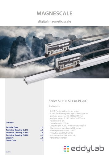 SL110, SL130, PL20C series - digital magnetic scale