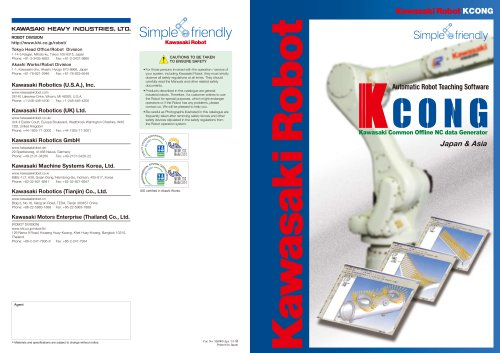 Kcong Automatic Robot Teaching Software
