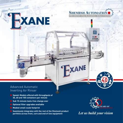 EXANE AUTOMATIC INVERTING AIR RINSER