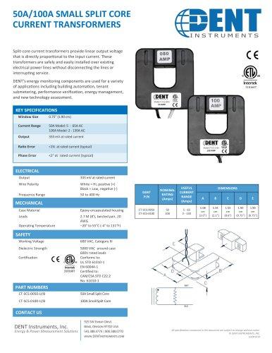 50/100A Small Data Sheet