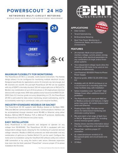 PowerScout 24 HD Multi-Circuit Power Submeter