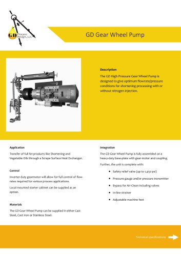 GD Gear Wheel Pump
