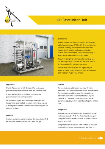 GD Pasteurizer Unit