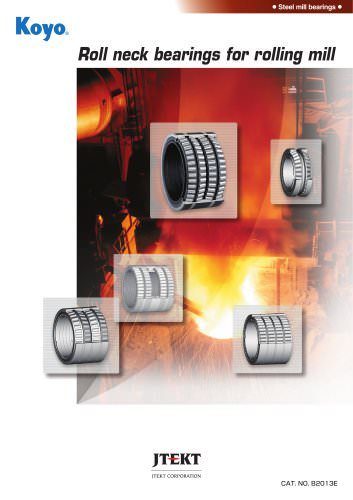 Roll neck bearings for rolling mill
