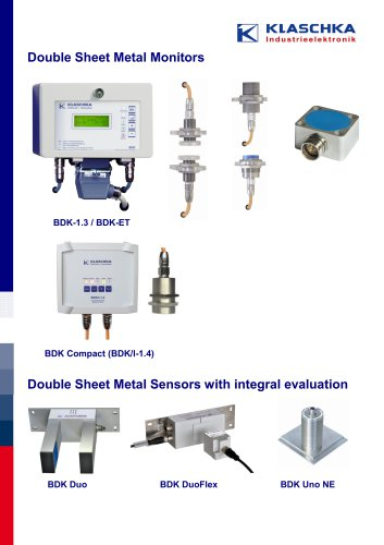 Double Sheet Metal Monitors and Sheet Thickness Sensors_Overview
