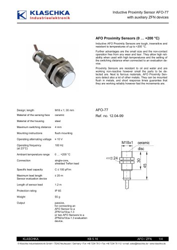 Inductive high-temperature Sensors up to 200 °C