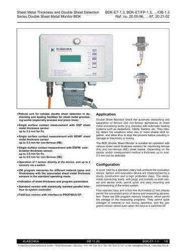 Klaschka_Double Sheet Metal Detector BDK-ET (6 pages)