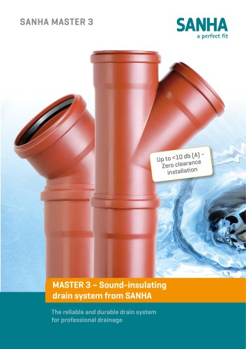 MASTER 3 – Sound-insulating drain system from SANHA