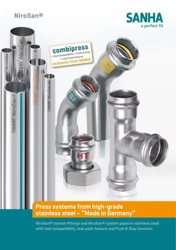 Press systems from high-grade stainless steel