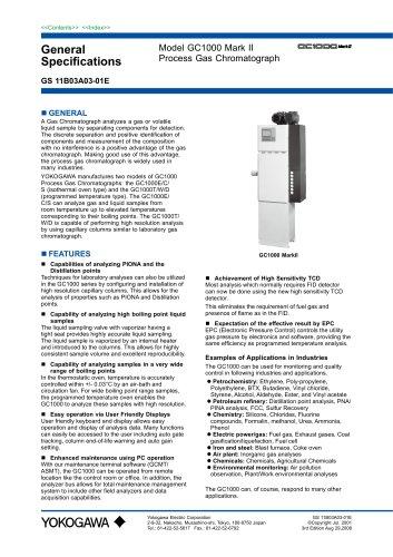 GC1000 Mark II Process Gas Chromatographs