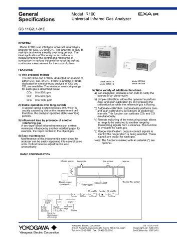 IR100 Universal Infrared Gas Analyzer