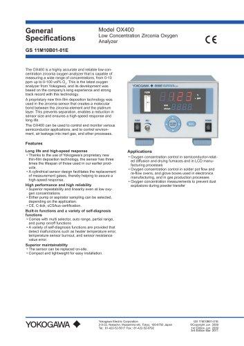Low Concentration Zirconia Oxygen Analyzer