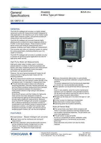 PH400G 4-Wire Type pH Meter