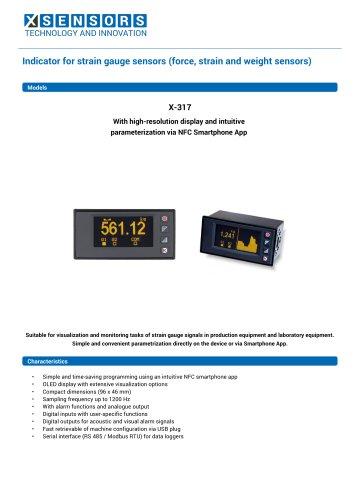 Strain gauge indicator X-317